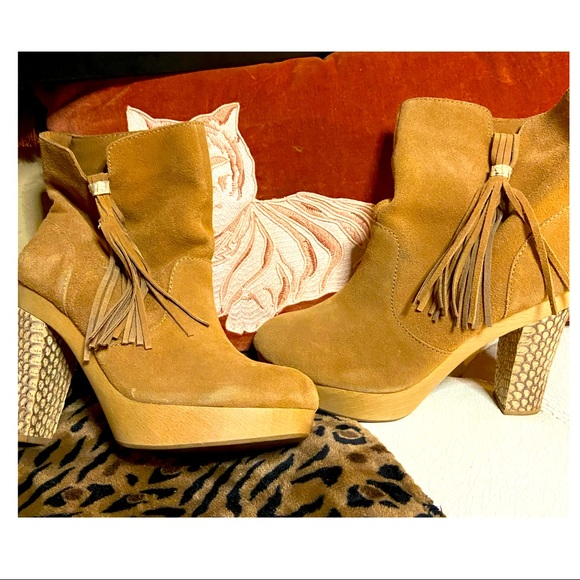 Rebecca Taylor Audra Suede Fringe Booties